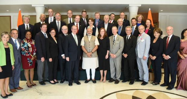 The US Congressional Delegation calls on the Prime Minister, Mr Narendra Modi, in New Delhi on February 21, 2017.(PIB Photo)