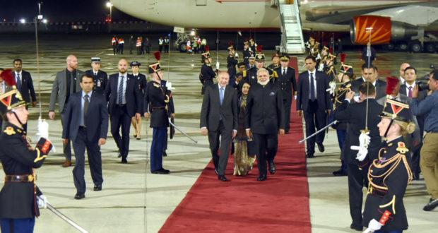 The Prime Minister, Shri Narendra Modi arrives at Orly Airport, Paris on the last leg of his four nation visit, in Paris, France on June 02, 2017.(PIB)